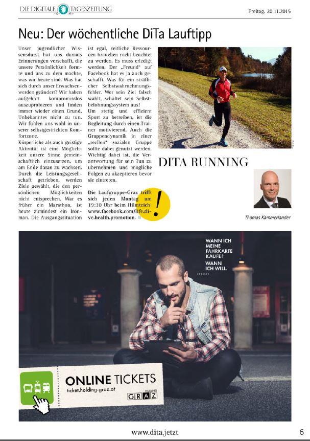 2015_11_20_DigitaleTageszeitung_DITA_57_NEU_Der woechentliche DiTa Lauftipp