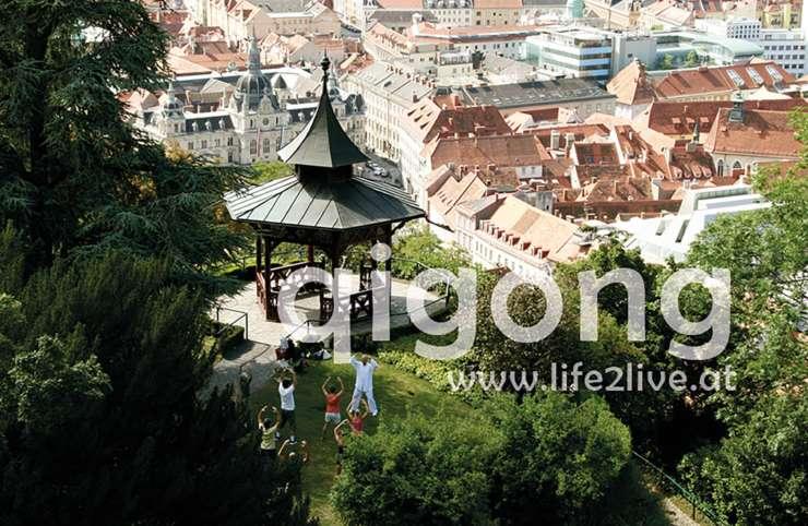 Qigong über den Dächern von Graz